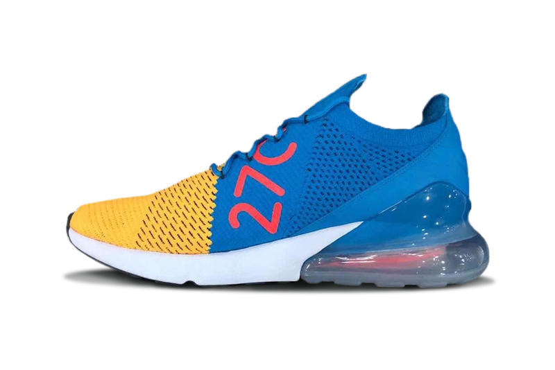 super popular d7735 4304d Nike Air Max 270 Flyknit Blue and Yellow | HYPEBEAST