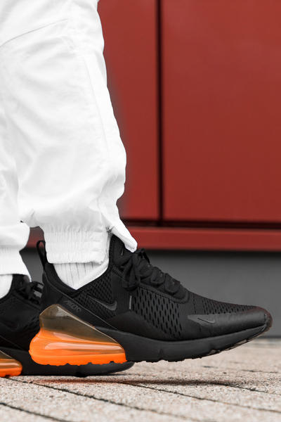 414e34427b79 Nike Air Max 270 Tonal Orange On Foot