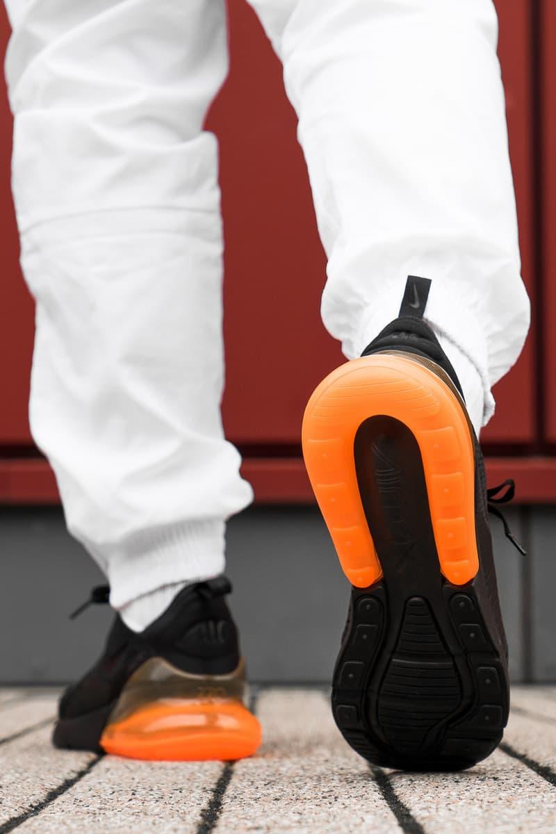 Nike Air Max 270 Tonal Orange On Foot
