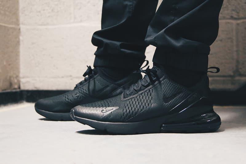 Nike Air Max 270 Triple Black On Feet Look Hypebeast