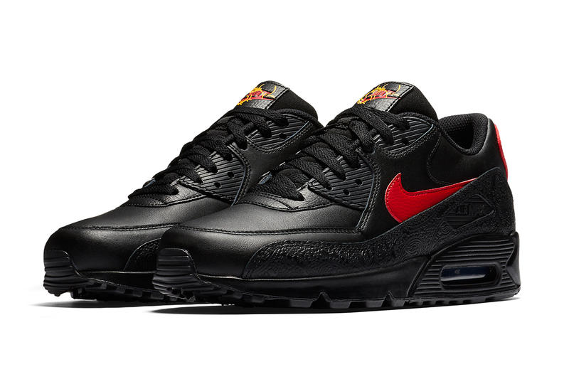 Nike Air Max 90 Chinese New Year black yellow red