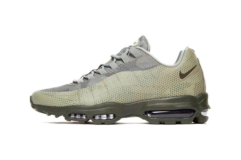 timeless design e8548 bce2c ... Grey ⁄ Nike Air Max 95 Ultra Essential Earthy Green ...