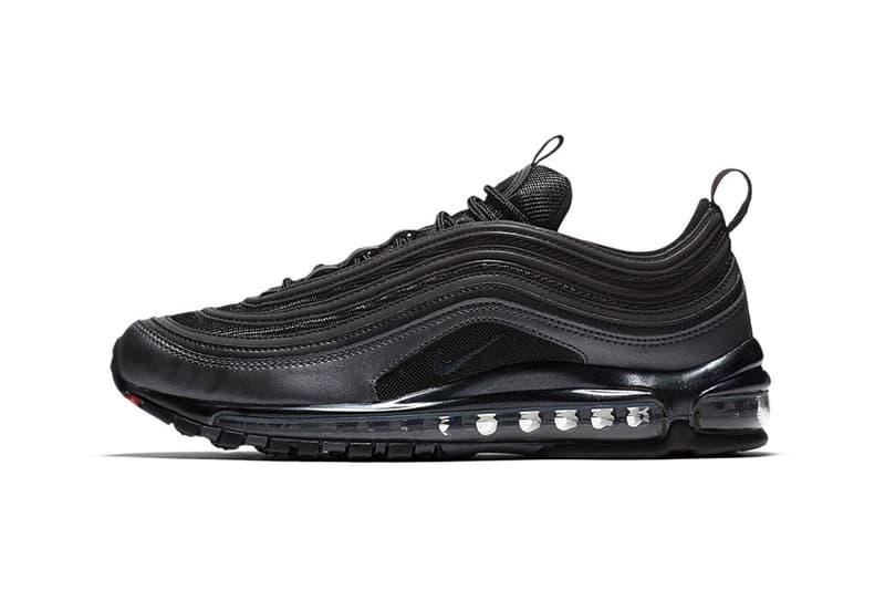 Nike Air Max 97 'Eternal Future' Release Date 'Black Anthracite' 'Desert Dust Bronze' 'Obsidian White Black' Colorways Nike Air Force 1 Skepta Virgil Abloh The Ten