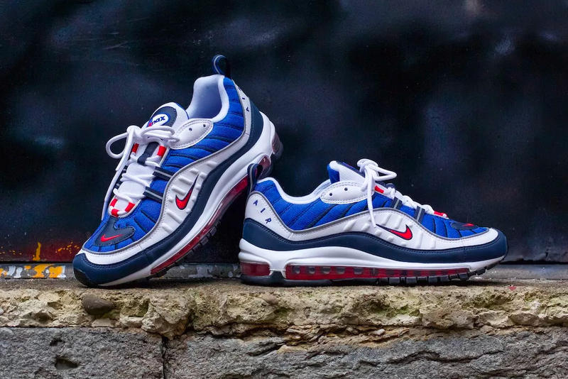 72d2efabb4 Nike Air Max 98 Gundam January 18 2018 Release Red White Blue