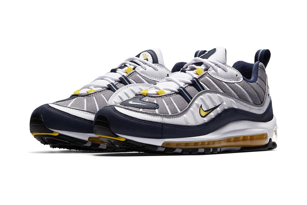 "Nike Air Max 98 OG ""Gundam"" and ""Tour Yellow"""