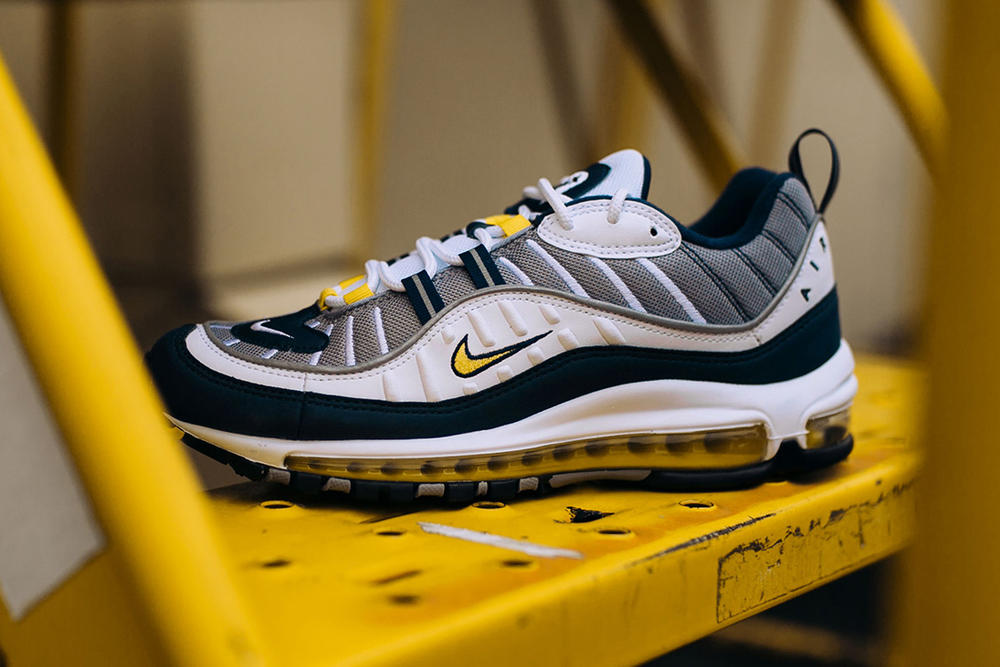 Nike Air Max 98 tour yellow white navy january footwear 18 Release Date info 2018 Sneakers Shoes Footwear Rock City Kicks