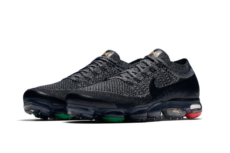 Nike Air Vapormax BHM black red green footwear
