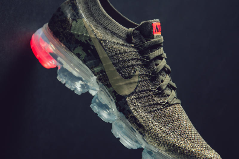 detailed look 0df75 cf9fc Nike Air Vapormax Flyknit Neutral Olive sneaker