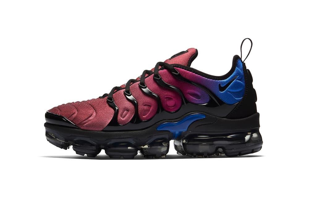 Nike Air Vapormax Plus Team Red Hyper Violet Racer Blue Gradient Black 2018 January 25 Release Date Info Sneakers Shoes Footwear