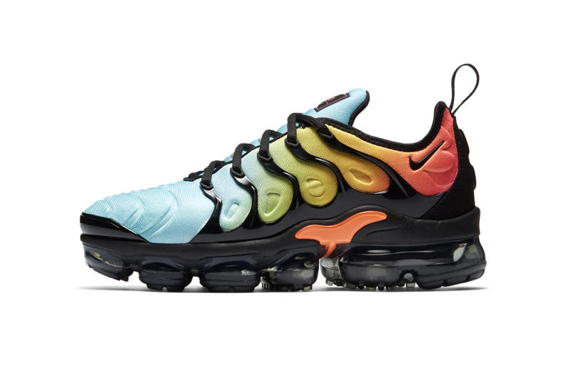 5eecc70c326 Nike Air VaporMax Plus Tropical Sunset 2018 January 25 Release Date Info  Sneakers Shoes Footwear Blue
