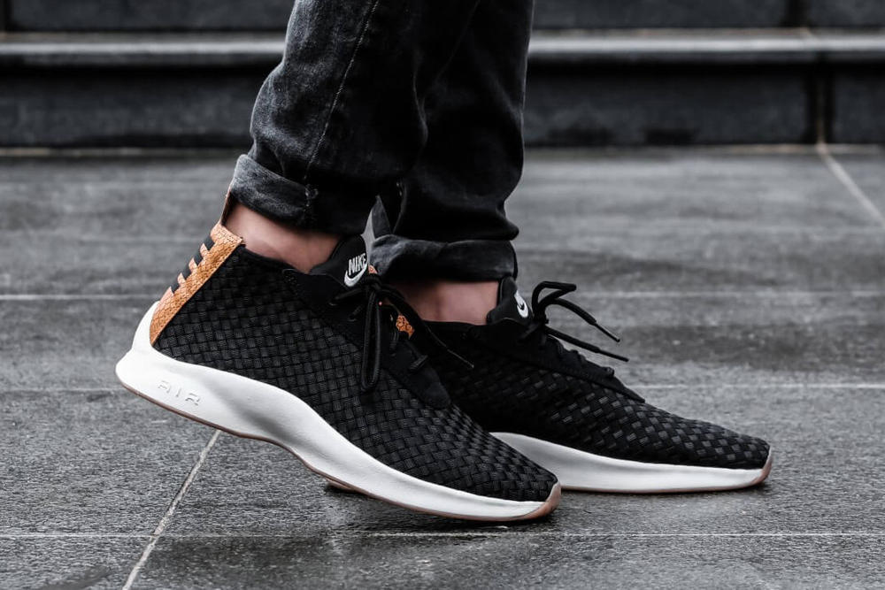 Nike Air Woven Boot Black Dark Russet Brown White 2018 January Release Date Info Sneakers Shoes Footwear Foot District