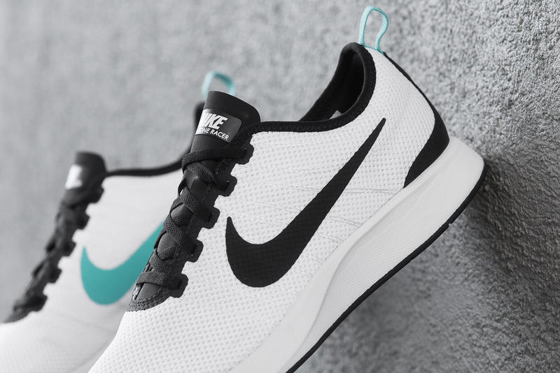 Nike Dualtone Racer White Black Teal Running Shoe Release
