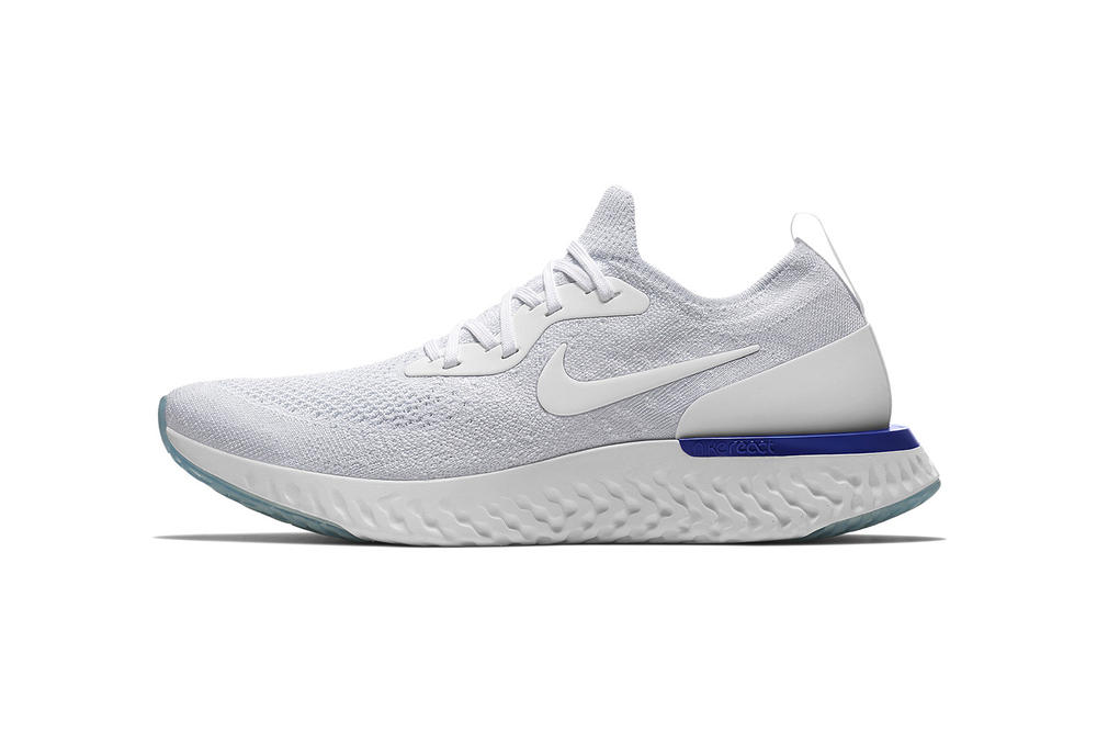 Nike Epic React Flyknit White Blue Pure Platinum 2018 February 5 Release Date Info Sneakers Shoes Footwear Nike Plus Debut