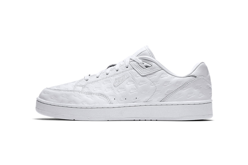 Nike Grandstand II All Over Logo White 2018 January 26 Release Date Info Sneakers Shoes Footwear