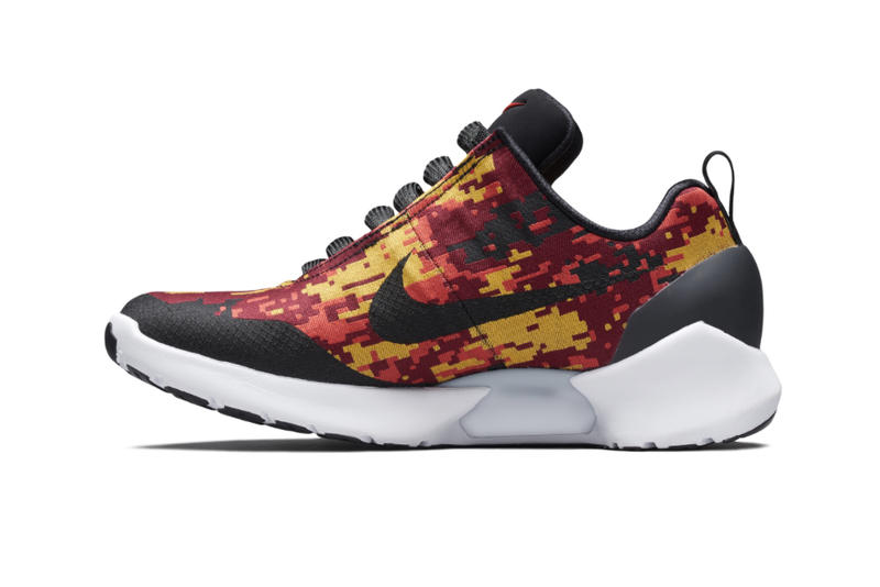 Nike HyperAdapt 1 0 Digi Camo Red Yellow official images footwear Release Date Info Drops