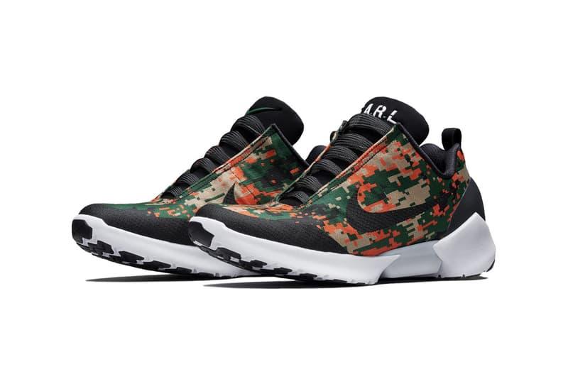 brand new 42e54 3ed07 Nike Hyperadapt 1.0 Digi Camo 2018 camouflage sneakers shoes orange green  black electro adaptive reactive lacing