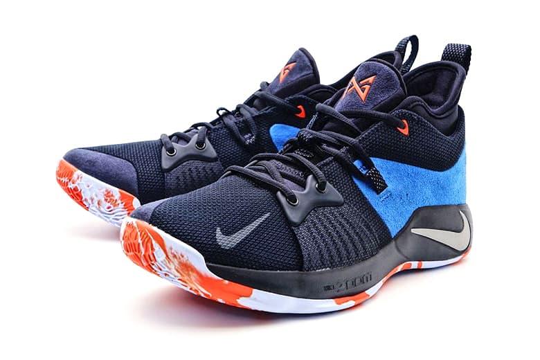 Nike PG2 Home Craze Paul George Nike Basketball footwear OKC Oklahoma City Thunder First Look Closer Look