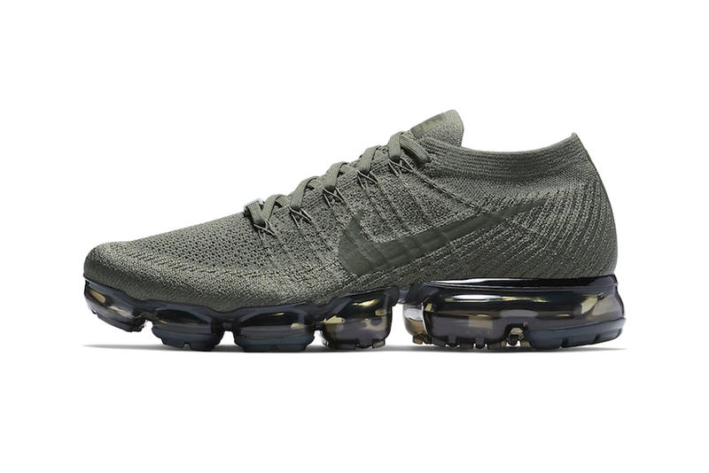 Nike Air VaporMax NikePlus App Exclusive Release Cargo Khaki College Navy Gunsmoke White Black