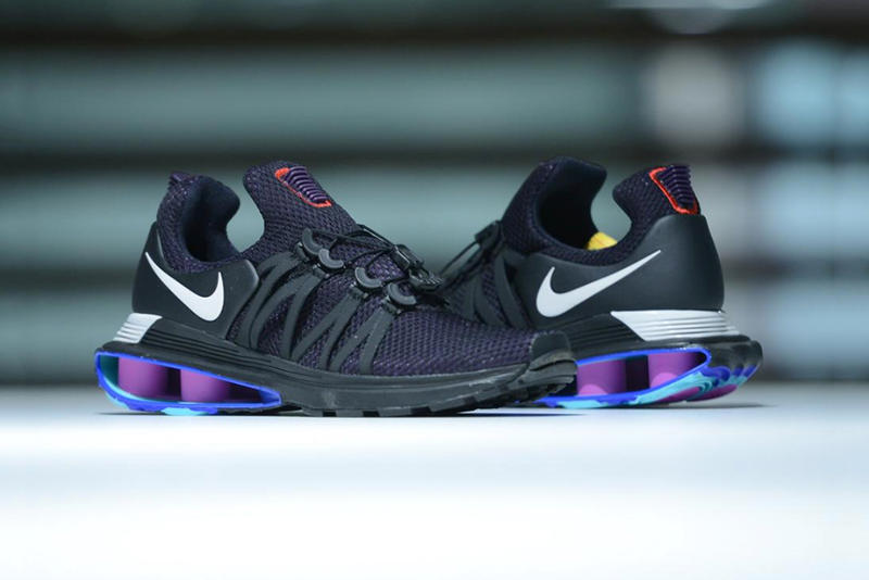 Nike Shox Gravity Black Purple Blue Release