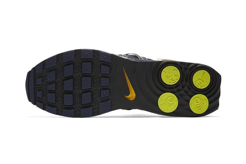 Nike Shox Gravity Midnight Navy Metallic Gold Yellow White