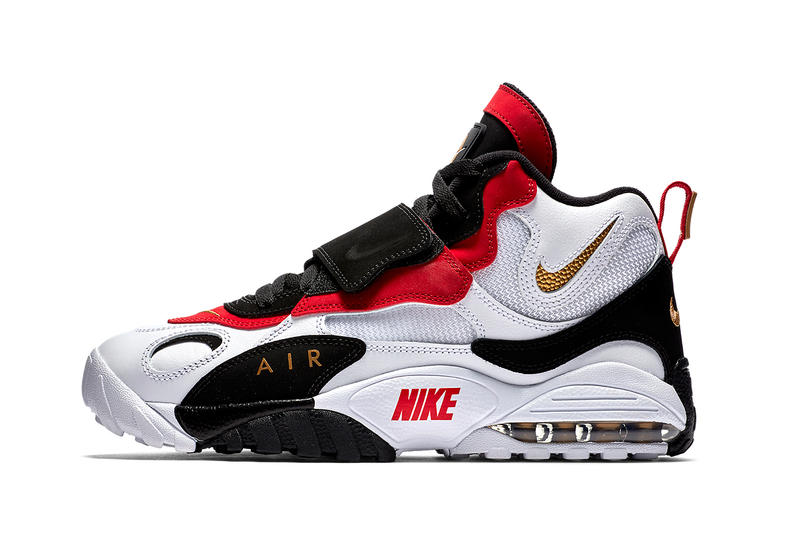 Nike Speed Turf Max february release white metallic gold black gym red footwear sneaker shoes 2018 info