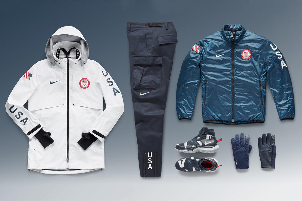 Nike Team USA Medal Stand Collection 2018 summit jacket system team usa pant nsw gaiter boot medal stand glove