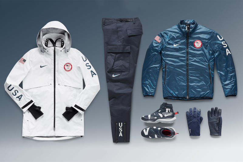 Nike Team USA Medal Stand Collection 2018 summit jacket system team usa  pant nsw gaiter boot 3fabbde85f