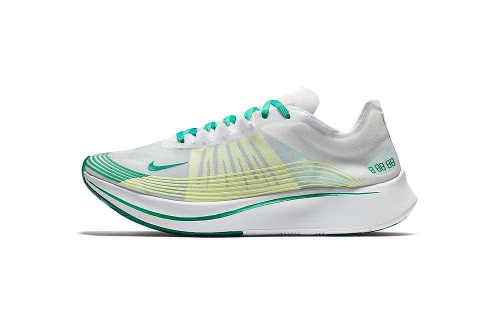 Nike Zoom Fly white lucid green release date january 18 2018 footwear