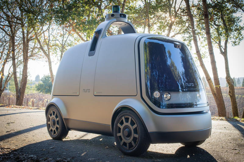Nuro Self Driving Delivery Car Google Driverless Autonomous