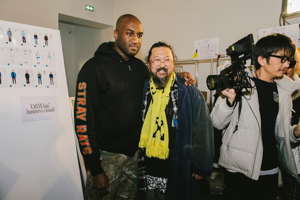 Off-White™ Fall/Winter 2018 Paris Fashion Week Backstage Future Metro Boomin' Takashi Murakami Jordan 1 Timberland Luka Sabbat Heron Preston