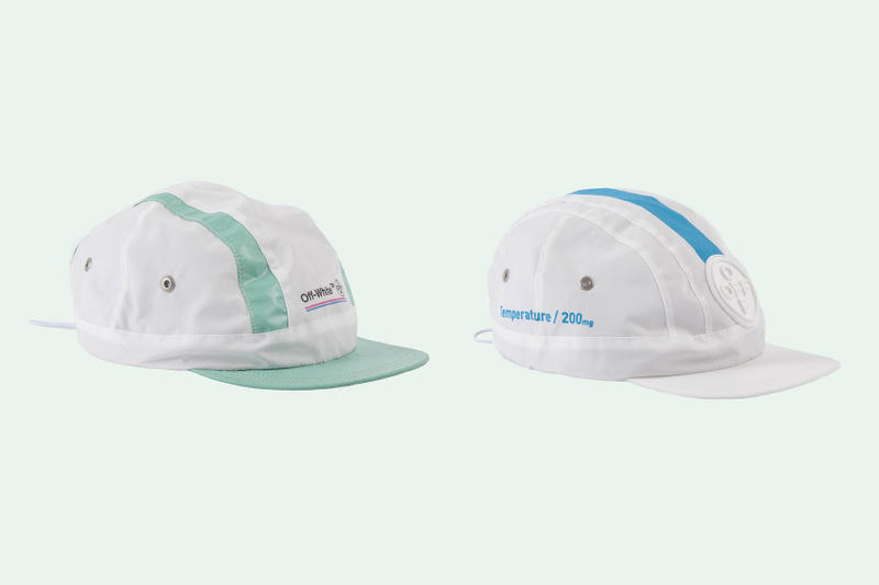 Off White Virgil Abloh Cycling Caps Sportswear Accessories Green White Blue Temperature