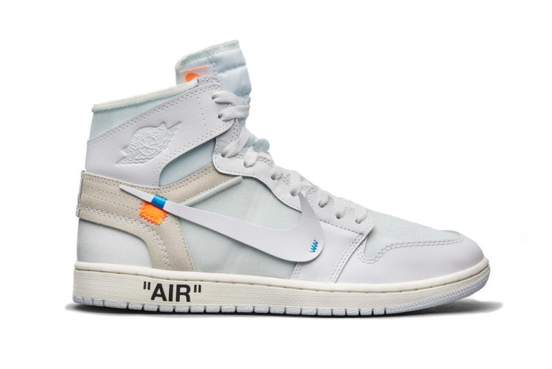 "Virgil Abloh Nike Air Jordan 1 ""White"" Release date drop europe exclusive launch info release the ten snkrs 2018 february 27"
