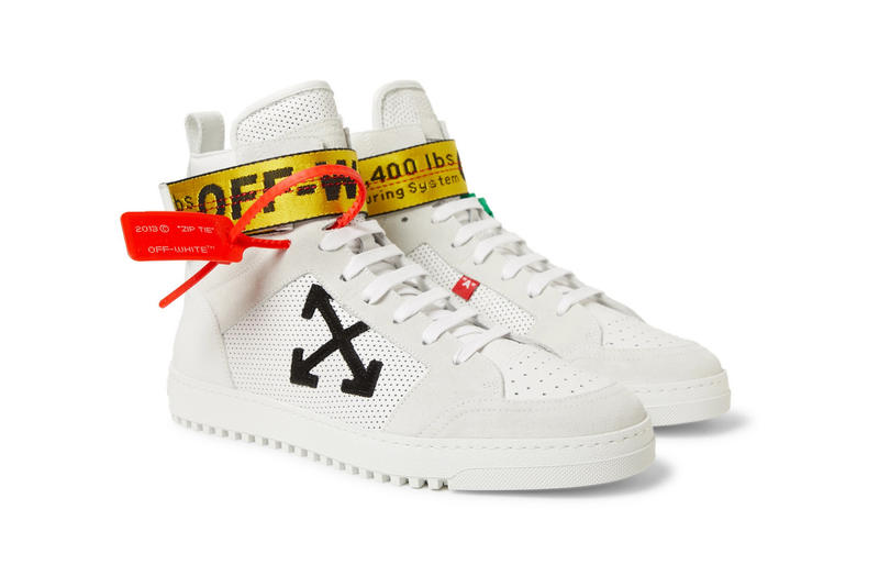 Off White Spring Summer 2018 New Footwear low cut high top black white