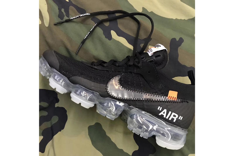 37d123cbfb95d Off White Nike Air VaporMax Black Releasing Release 2018 Virgil Abloh