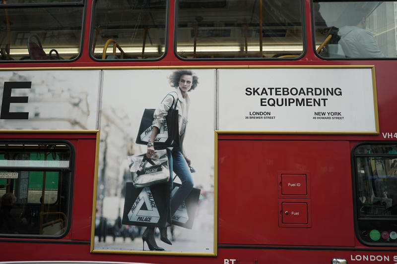 palace skateboards bus ad