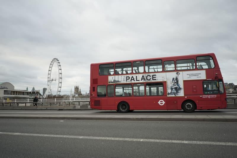 Palace Skate Fashion Bus Advertisement David Simms Ad United Kingdom London
