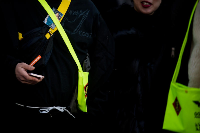 Paris Fashion Week Fall/Winter 2018 street style men's off-white goretex