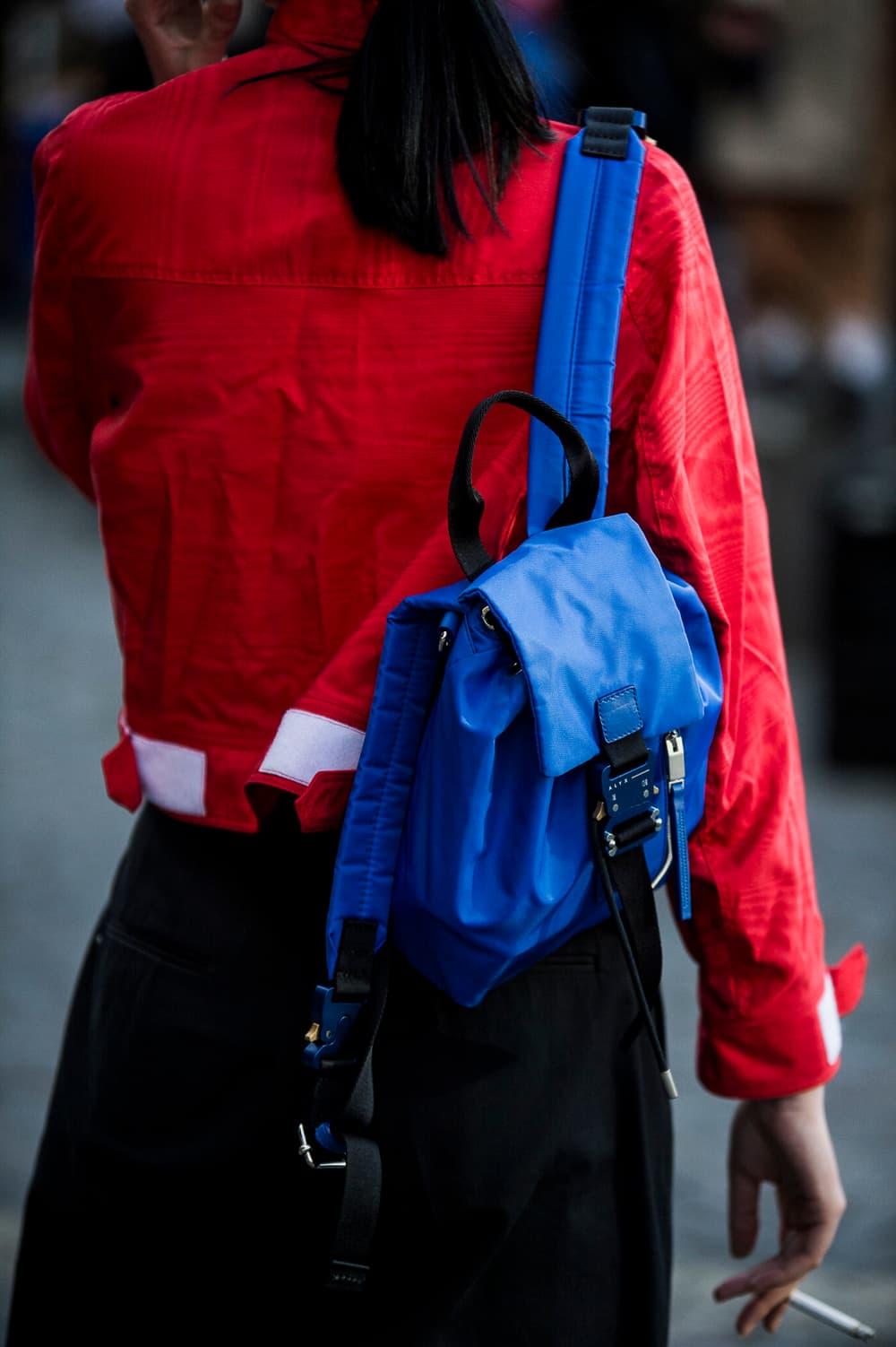 Paris Fashion Week Fall/Winter 2018 street style men's off-white goretex