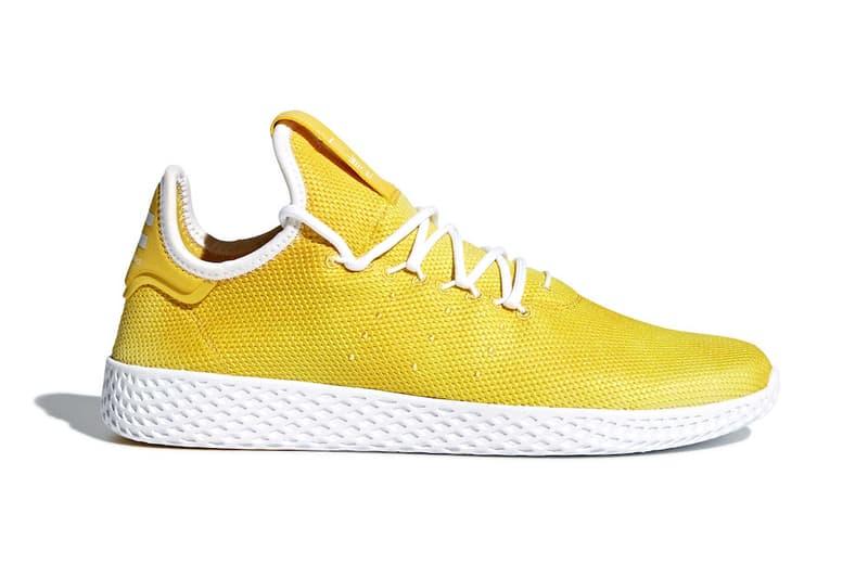 Pharrell Williams adidas Originals tennis hu yellow release date