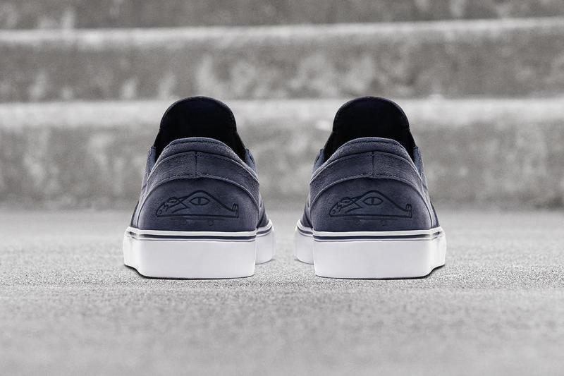 Poler Nike SB Janoski Slip On 2018 February 3 Release Date Info Sneakers Shoes Footwear Skateboarding Suede Navy