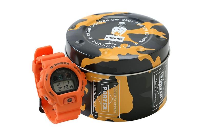Porter X Casio G Shock Dw 6900 Watch In Orange Hypebeast