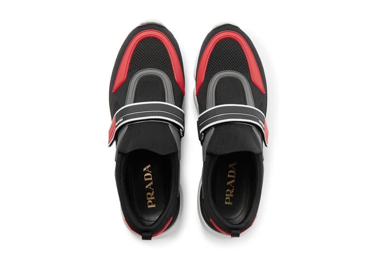 Prada MR PORTER Exclusive Mesh Rubber Luxury Fashion Leather Sneakers 2018 Kicks Streetwear