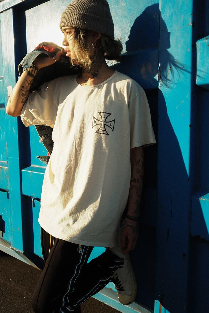 RHUDE x NUBIAN Exclusive Capsule 2018 fashion japan grunge Rhuigi Villaseñor traxedo Iron Cross MOTORPSYCHO