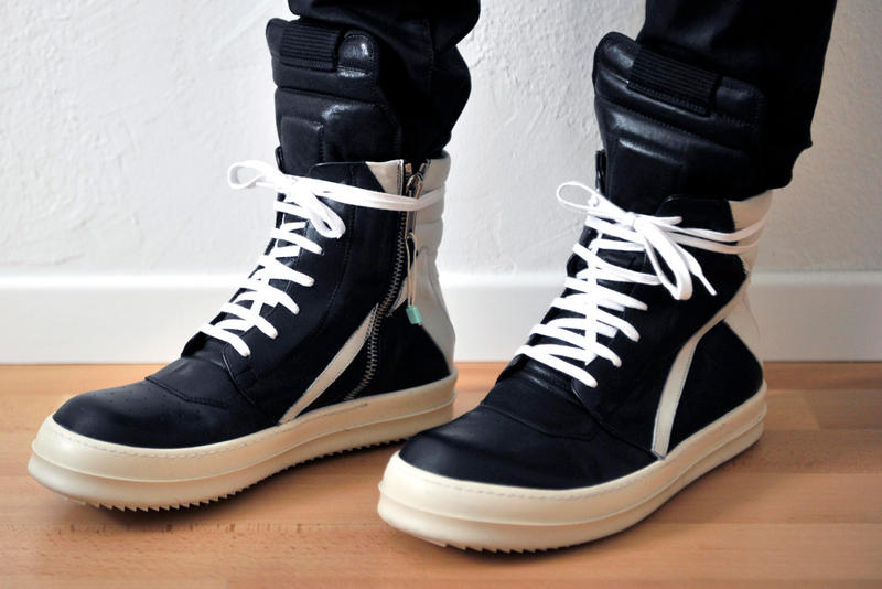 Rick Owens Geobasket Ikea Frakta Customization sneakers shoes luxury