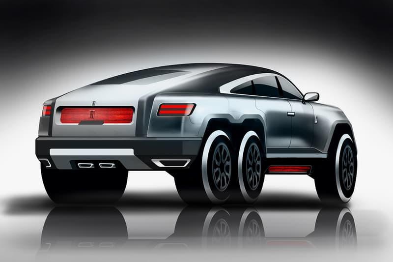 Rolls Royce Phantom Three 6x6 SUV Concept Vivek Sweptail Luxury Cars