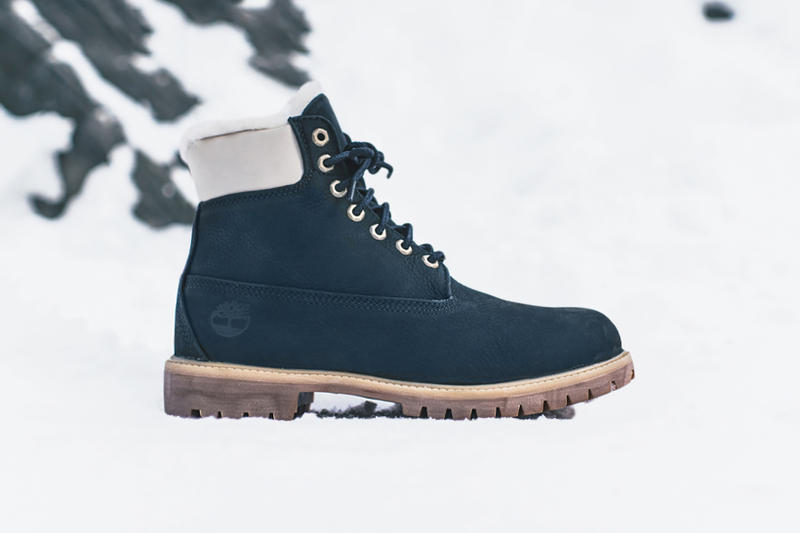 Ronnie Fieg Timberland KITH Chapter 3 distressed rust leather black navy nylon cream shearling release date footwear January 20