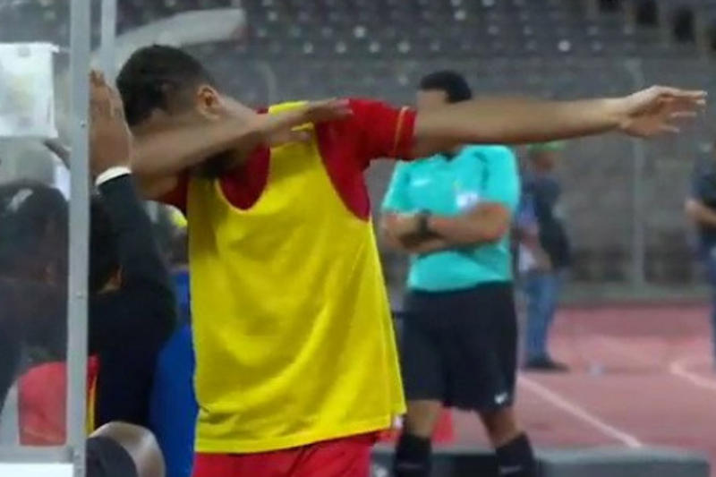 Saudi Arabian Soccer Player Dab Jail Dabbing