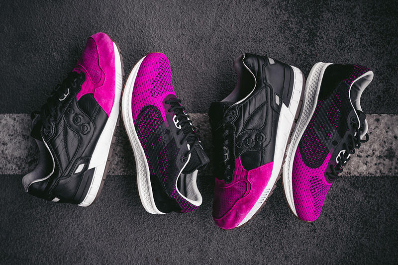 solebox saucony shadow 5000 evr pink devil black pink footwear release date info drops january 17 18