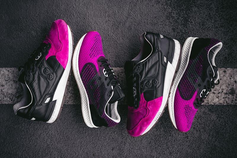 solebox saucony shadow 5000 evr pink devil black pink footwear release date info drops january 17 18