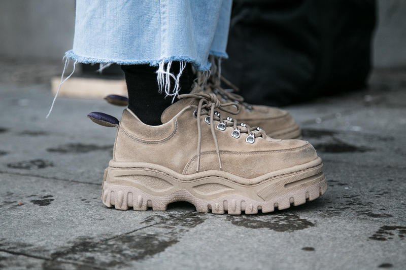Stockholm Fashion Week Fall/Winter 2018 Street Style Streetsnaps Off-White Virgil Abloh Balenciaga Eytys Acne Studios Raf Simons adidas Originals Ozweego Fear of God